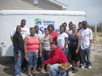 LEARN students at Habitat for Humanity site