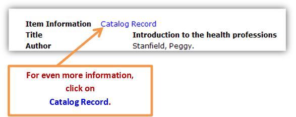 Catalog record.