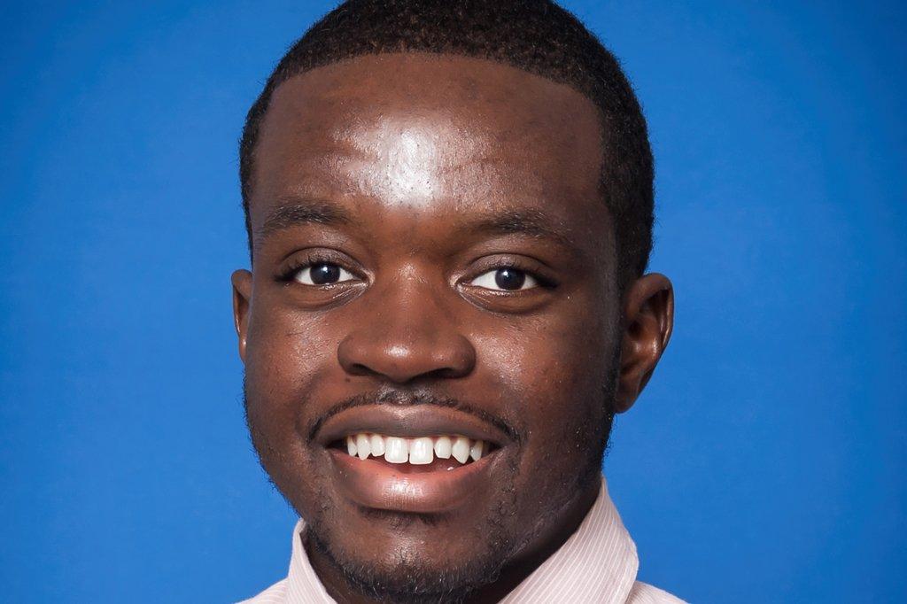 Portrait photo of PCC student George Cherry Jr. smiling.