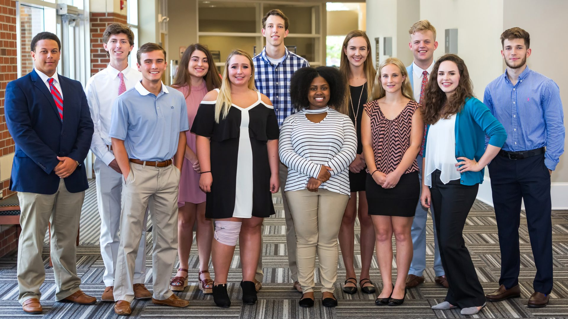 PCC's 2018-19 Student Ambassadors met in the Goess Student Center this month to begin preparing for their responsibilities during the upcoming academic year. From left to right, they are: Titus Williams, Hayden Anderson, Owen Simpkins, Abigail Perrini, Mary-Jean Weathers, Jameson Fisher, Andrea Smith, Madison Jones, Alexandra Woolard, Joshua Dees, Allie Moore and Geromy Wright.