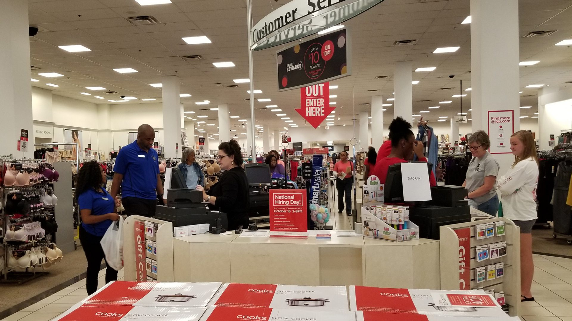 PCC students check out at the cash register during the exclusive JCPenney shopping event Oct. 14.