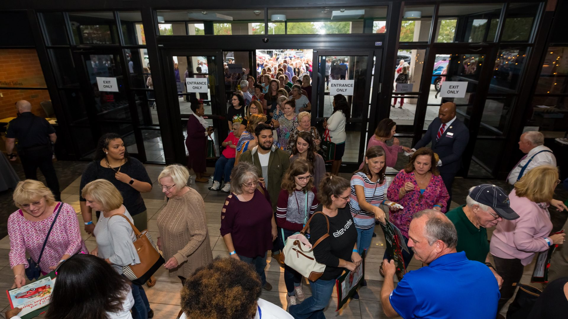 Shoppers were eager to enter the Greenville Convention Center the moment the doors opened on the first day of the PCC Foundation's 2018 Down East Holiday Show.