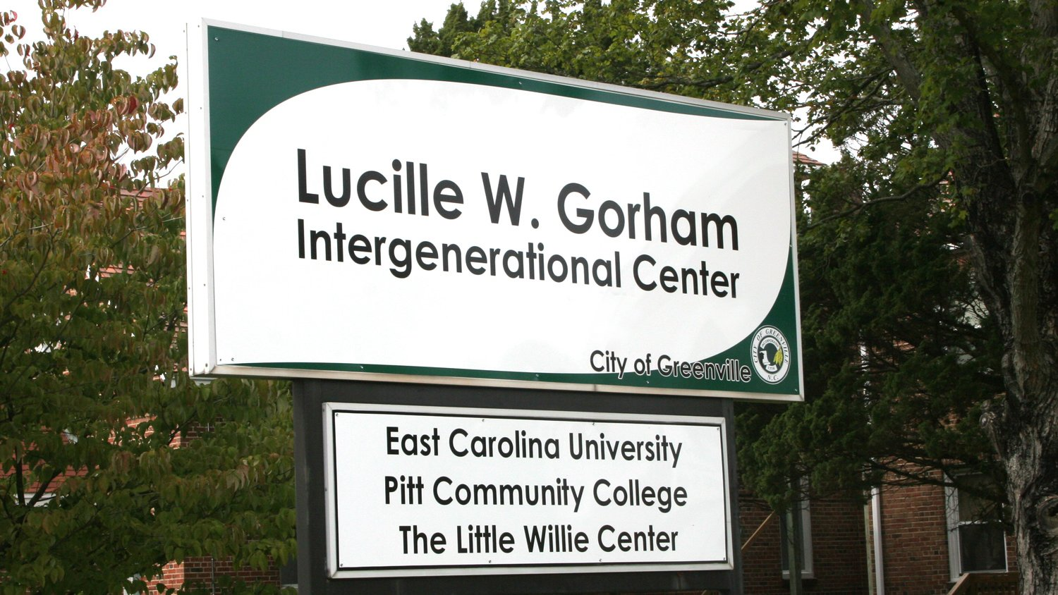Intergenerational Center sign in West Greenville.