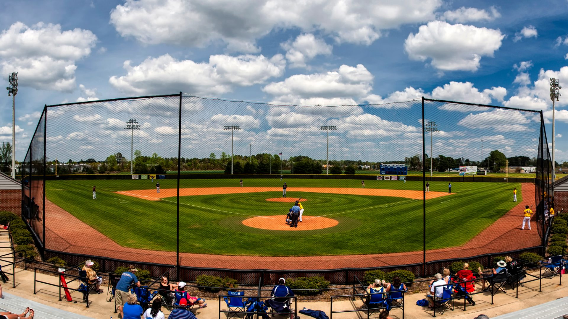 Panorama of PCC Baseball's Minges-Overton Baseball Complex