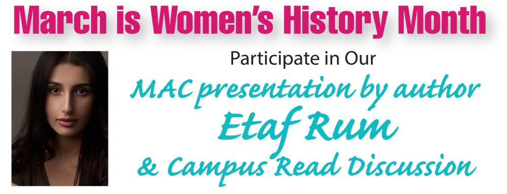 "Author Etaf Rum will discuss her book, ""A Woman is No Man"" at Pitt on March 31 as part of the college's observance of Women's History Month."