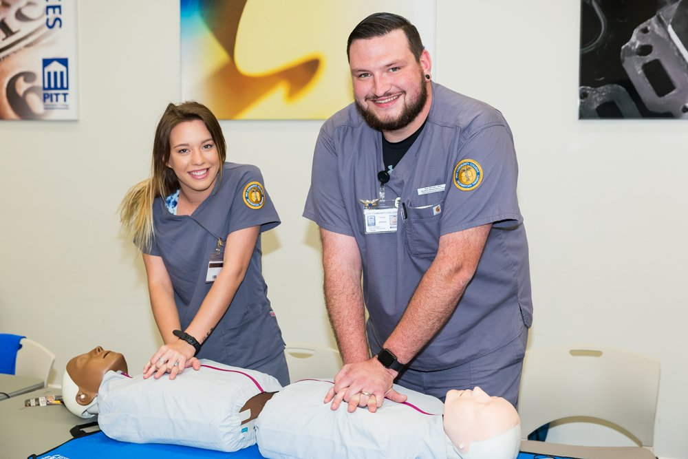 Second-year PCC Respiratory Therapy students Nikole Inman and Tyler Brooks have joined the fight against the coronavirus as Respiratory Care Assistants, thanks to a decision the N.C. Respiratory Care Board made in March. Both Inman and Brooks are working at Vidant Medical Center in Greenville.