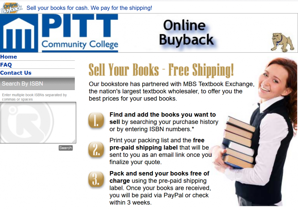 Link to MBS Online textbook buyback