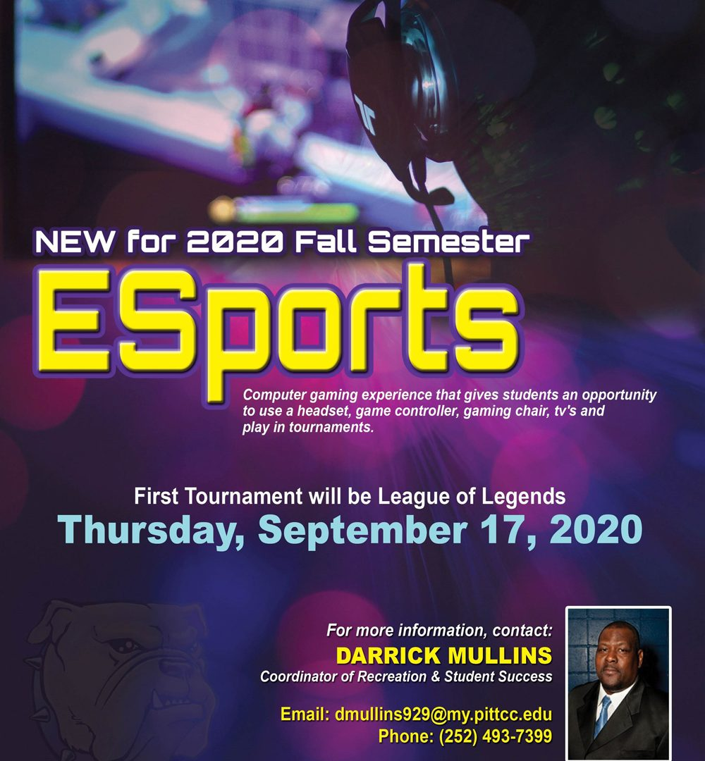 Graphic promoting ESports tournament on Sept. 17.