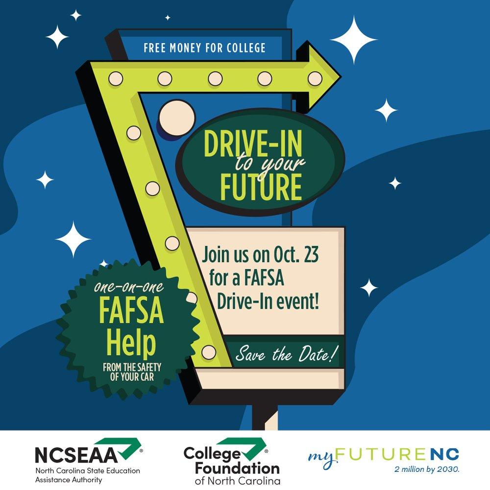 2021 FAFSA Drive-In Graphic
